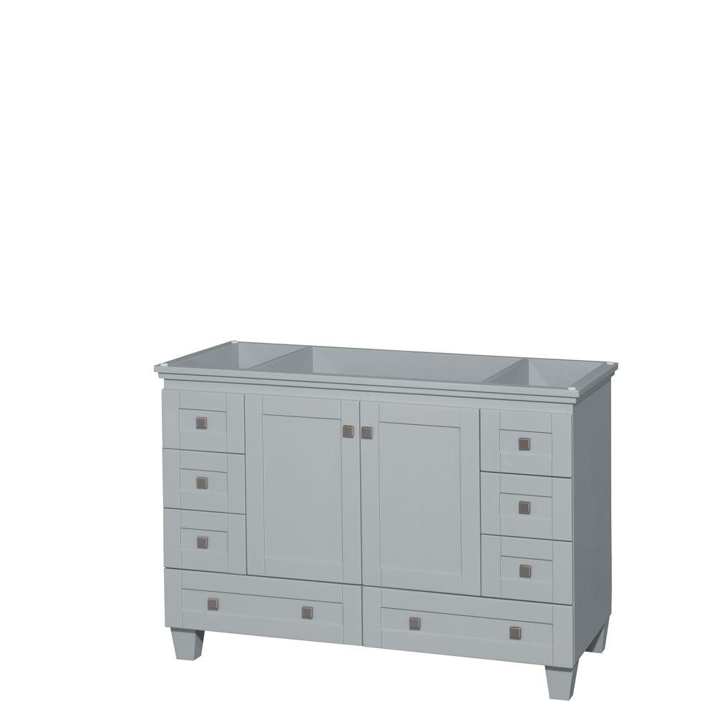Wyndham Collection Acclaim 48 in. Vanity Cabinet in Oyster Gray
