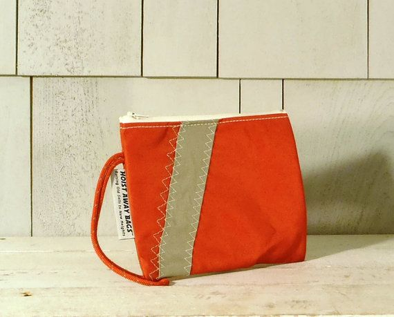 Valentine Gift Nautical Purse Nautical Wristlet by HoistAwayBags, $35.00