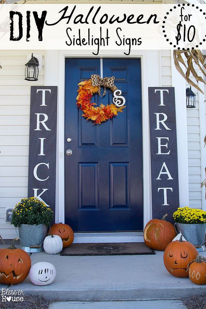 Halloween Sidelight Signs Fall Porch Decor Halloween Decorations Diy Outdoor Halloween Porch Halloween Porch Decorations