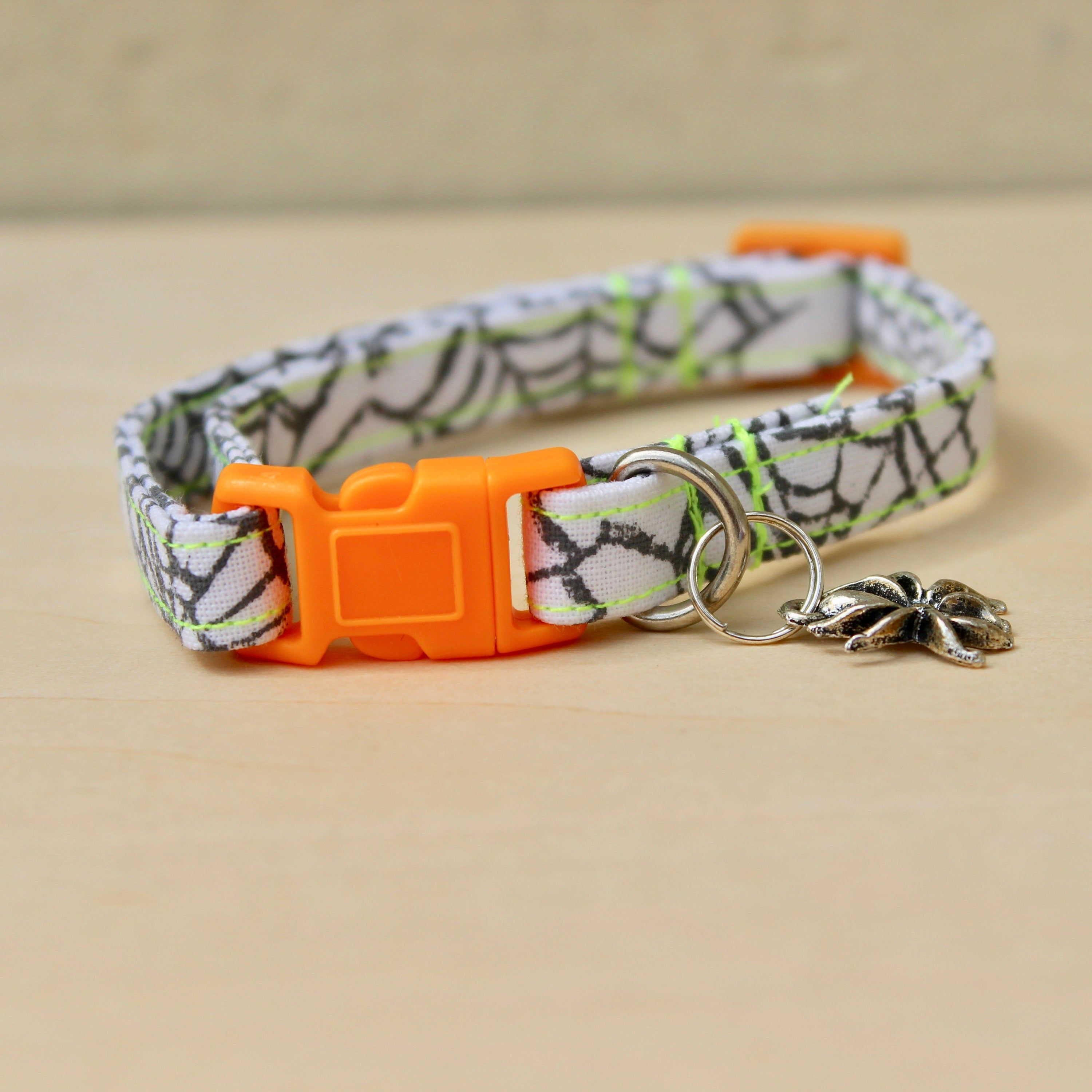 Halloween Cat Collar with Spider Charm Cat collars