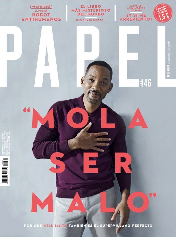 Papel Magazine Will Smith Typography Magazine Magazine Cover