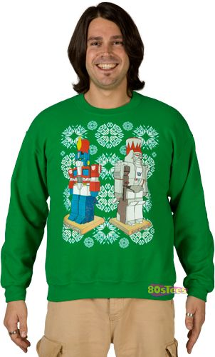 Faux Transformers Ugly Christmas Sweater | Ugliest christmas sweaters