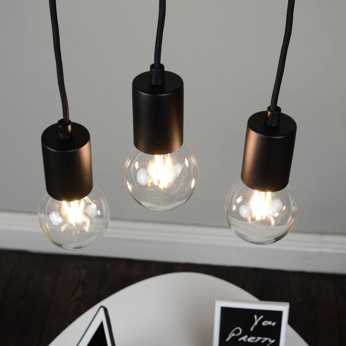 Cero 3 Pendant Light Black Black Pendant Light Ceiling Rose Bulb