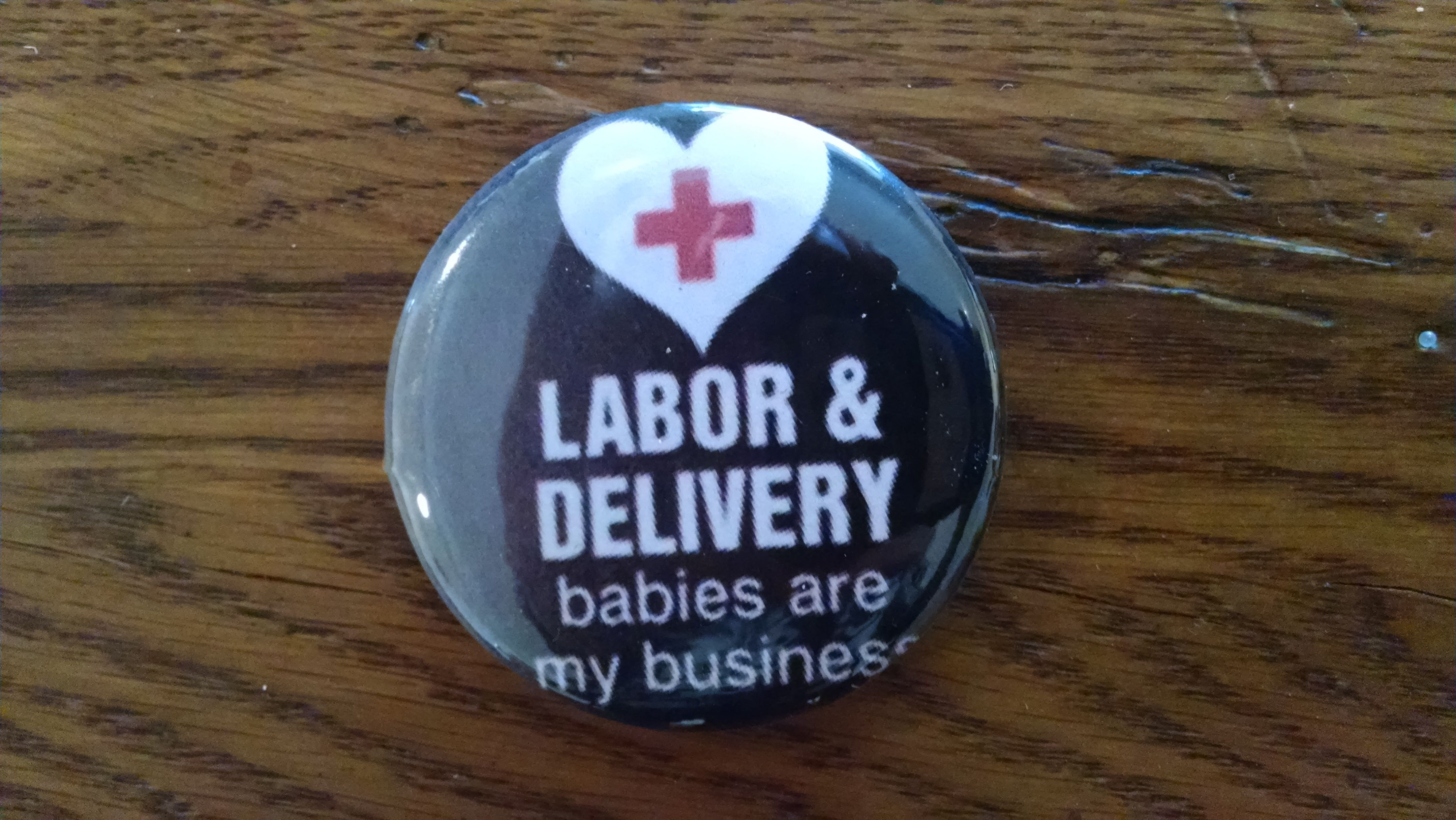 Button for delivery nurse christmas bulbs nursing pins