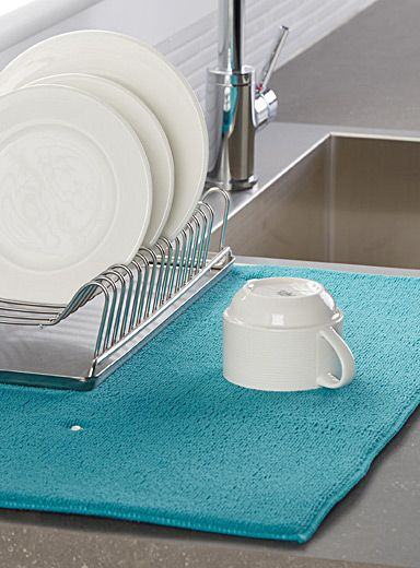 Le tapis de séchage à vaisselle uni Cuisines Pinterest Dish
