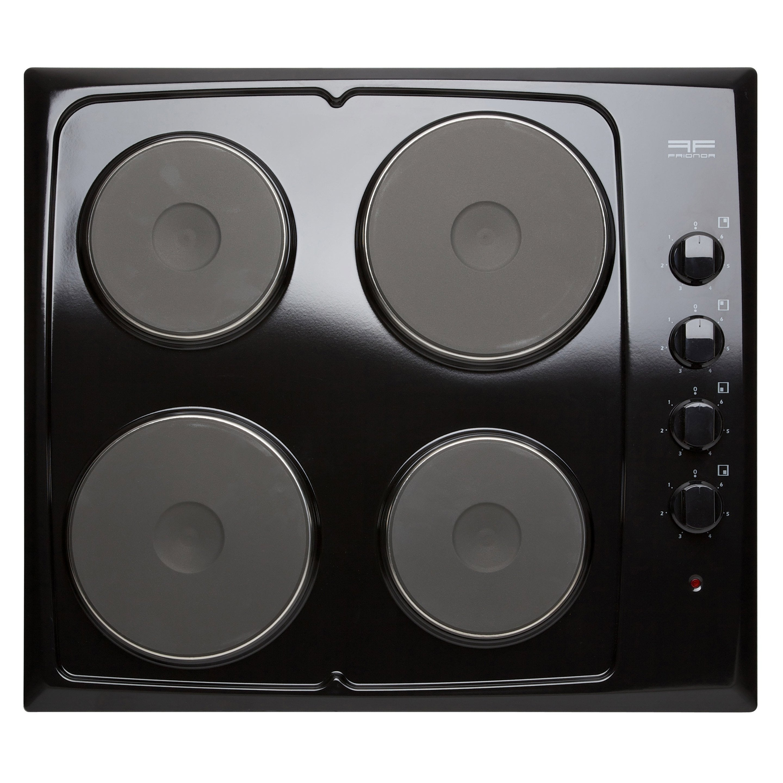 Plaque De Cuisson Electrique 4 Foyers Noire Frionor Genofri