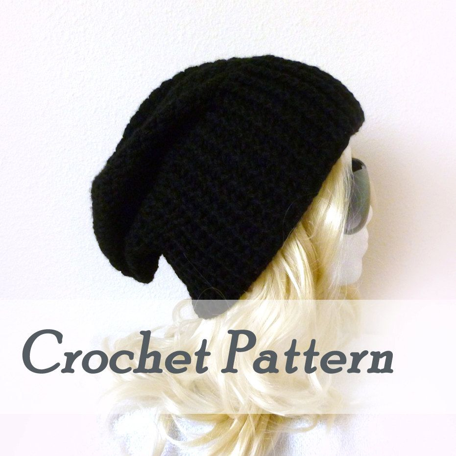 Crochet pattern instant download biker ribbed slouchy beanie crochet pattern instant download biker ribbed slouchy beanie crocheted biker hat opie beanie dt1010fo