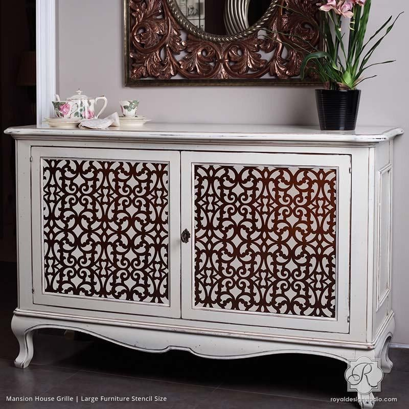 Exotic Trellis Furniture Stencils for DIY Painting | Royal Design Studio Stencils