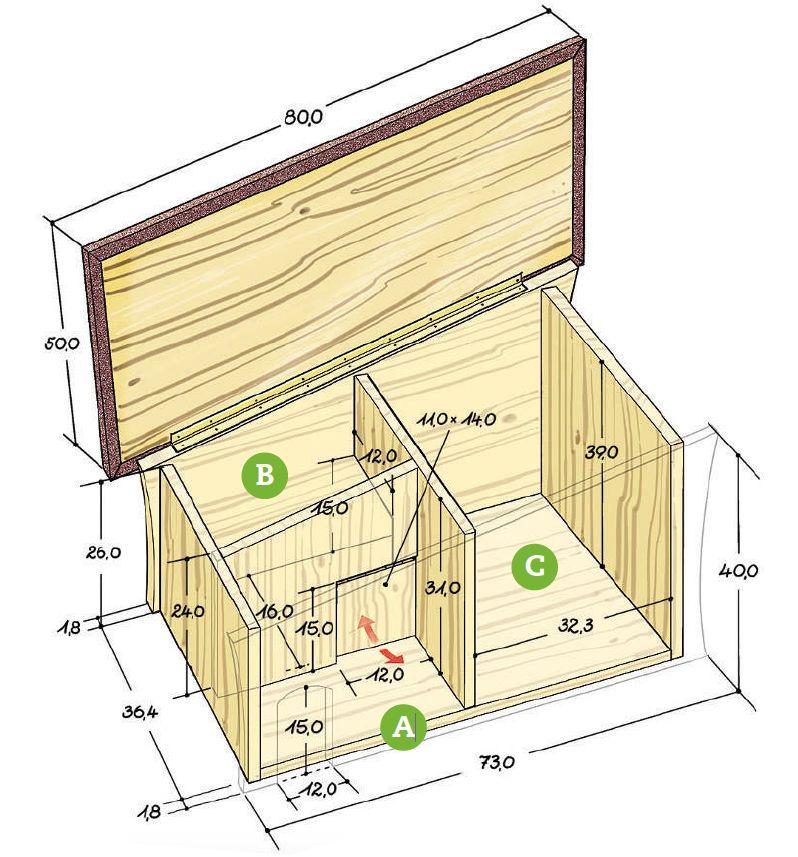 unsere herberge aus unbehandeltem fichtenholz ist besonders f r junge unterern hrte. Black Bedroom Furniture Sets. Home Design Ideas