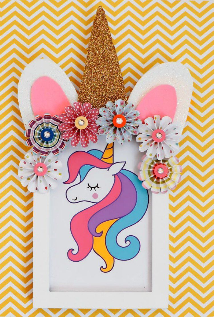 Unicorn Frame Diy Is An Easy Unicorn Paper Craft Idea If You Are Looking For Easy Unicorn Crafts To Make Th Unicorn Crafts Unicorn Card Unicorn Birthday Cards