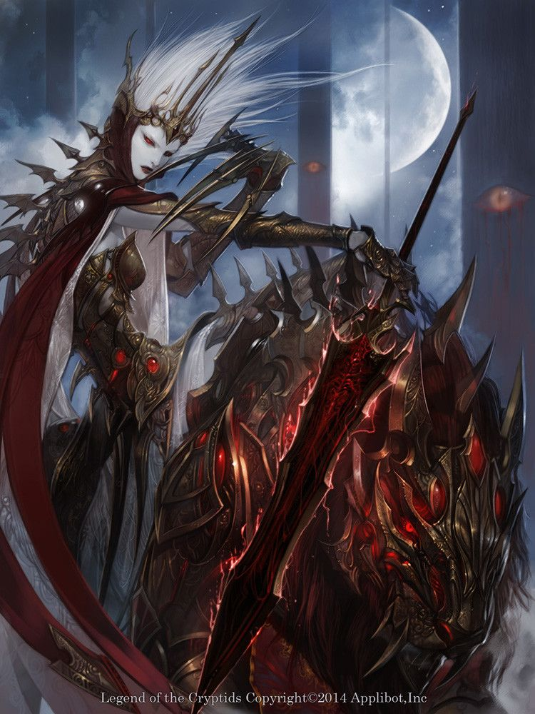 Artist: Jung Myung Lee aka rupid79 - Title: blood - Card: Soulstealer Wendalina (Stimulated)