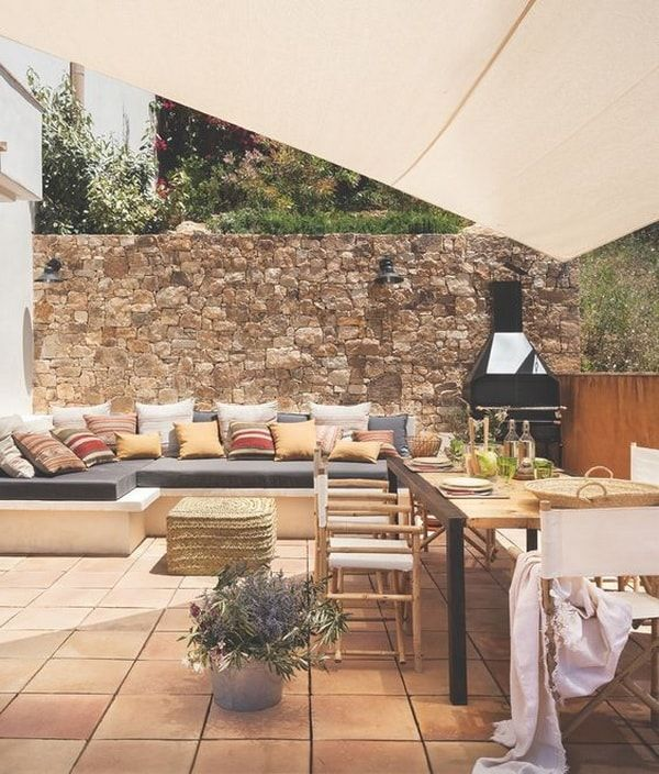 Madera y fibras naturales en exteriores Casas Pinterest Fibra