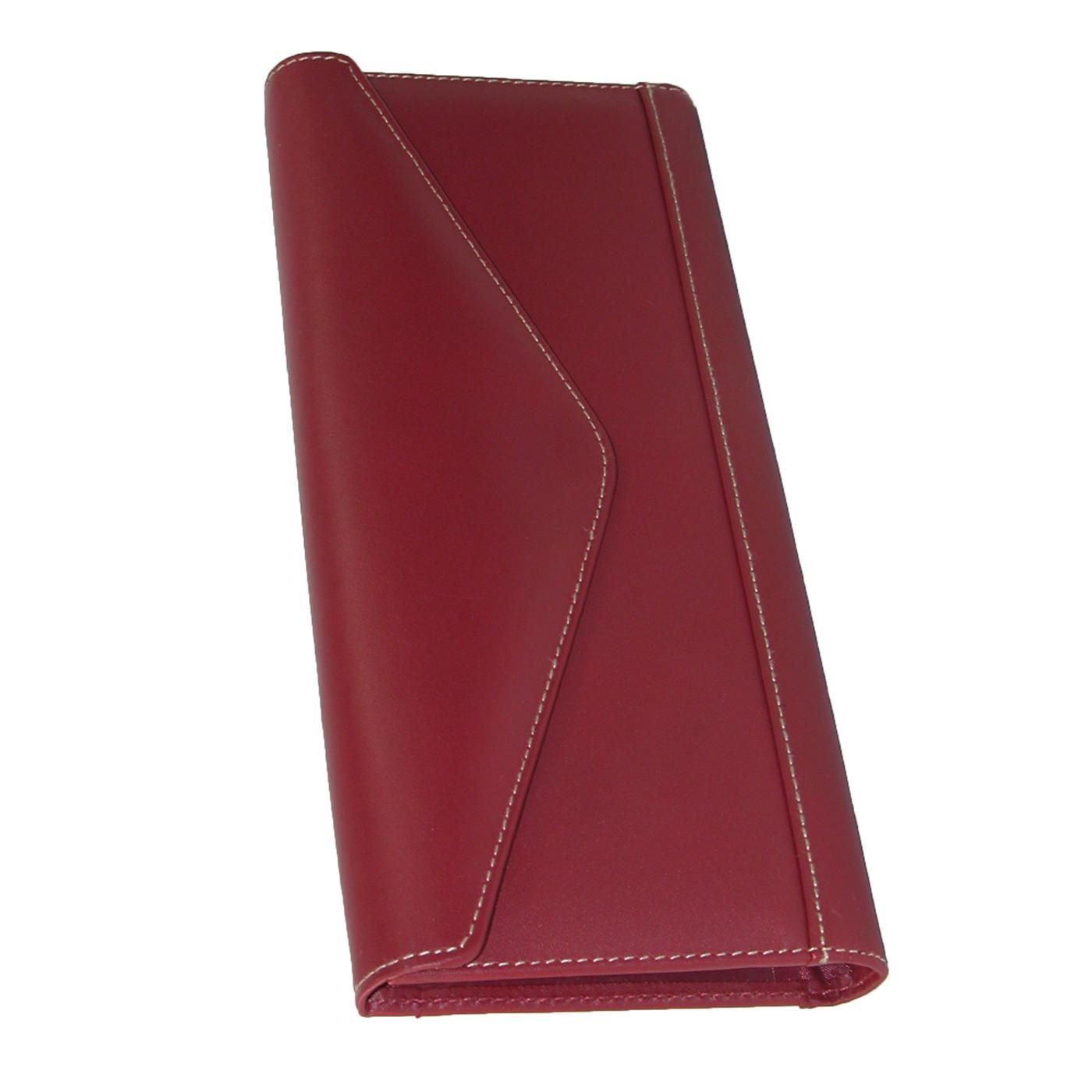 Genuine Leather Envelope Business Card File by Buxton. 64 card slots ...