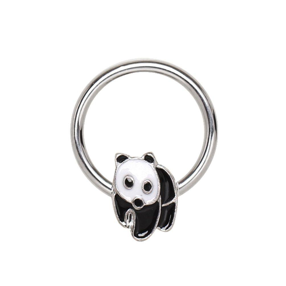 1x Circle Captive Ring Skull CBR Hoop Lip Nipple Nose Eyebrow Piercing Jewelry