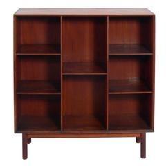for sale on danish modern burmese teak bookshelf designed by peter hvidt and orla denmark circa clean lined design with beautifully