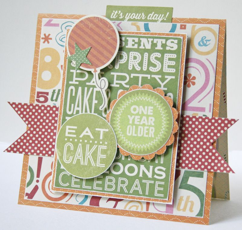Eat Cake Card Scrapbook Fun Layers With Jillibean Soup On