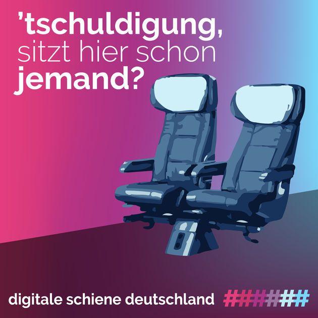 """tschuldigung, sitzt hier schon jemand?"""" von Deutsche Bahn"""