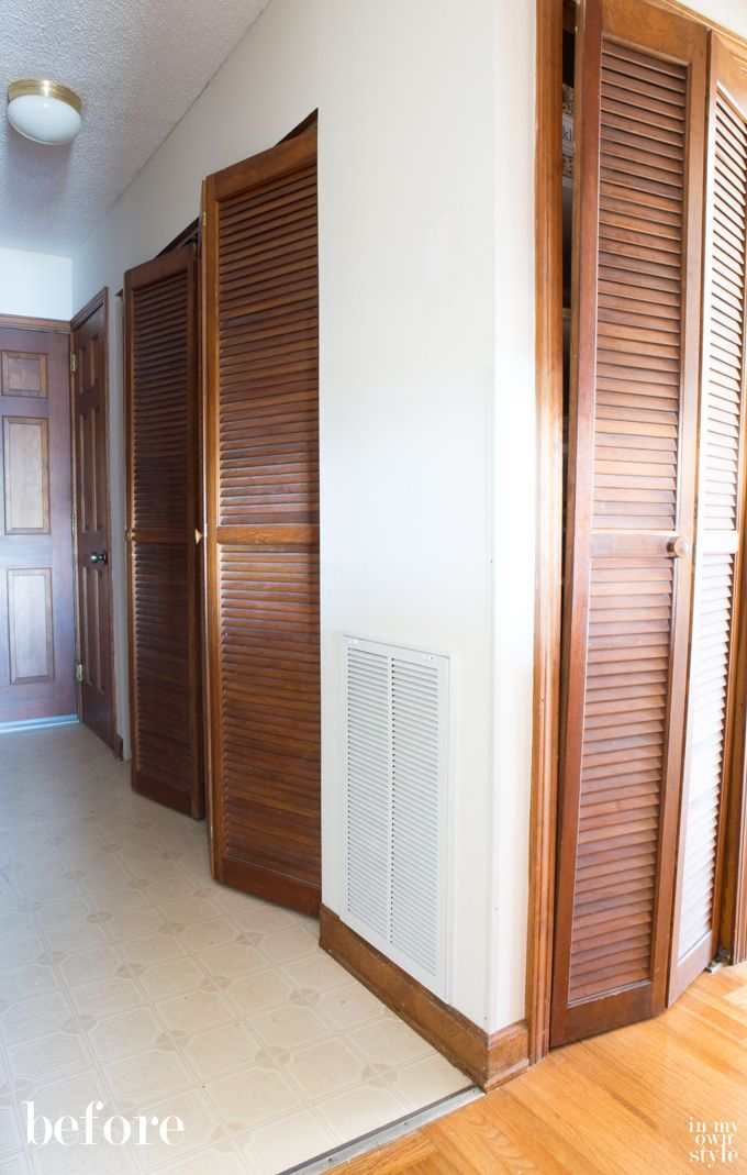 How I Painted Louvered Doors Closet Door Redo Painted Closet Bifold Doors Makeover