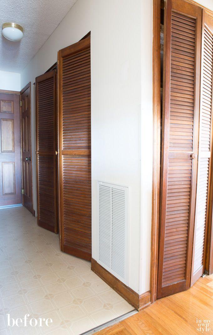 How I Painted Louvered Doors Closet Door Redo Bifold Doors
