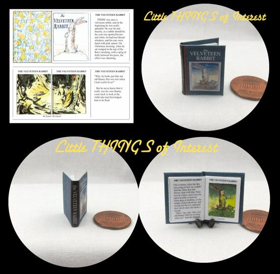 El pana conejo miniatura libro muñecas por LittleTHINGSinterest