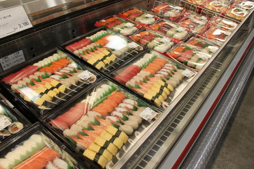 Sushi platters in Costco Japan. Damn....I love Costco but ...
