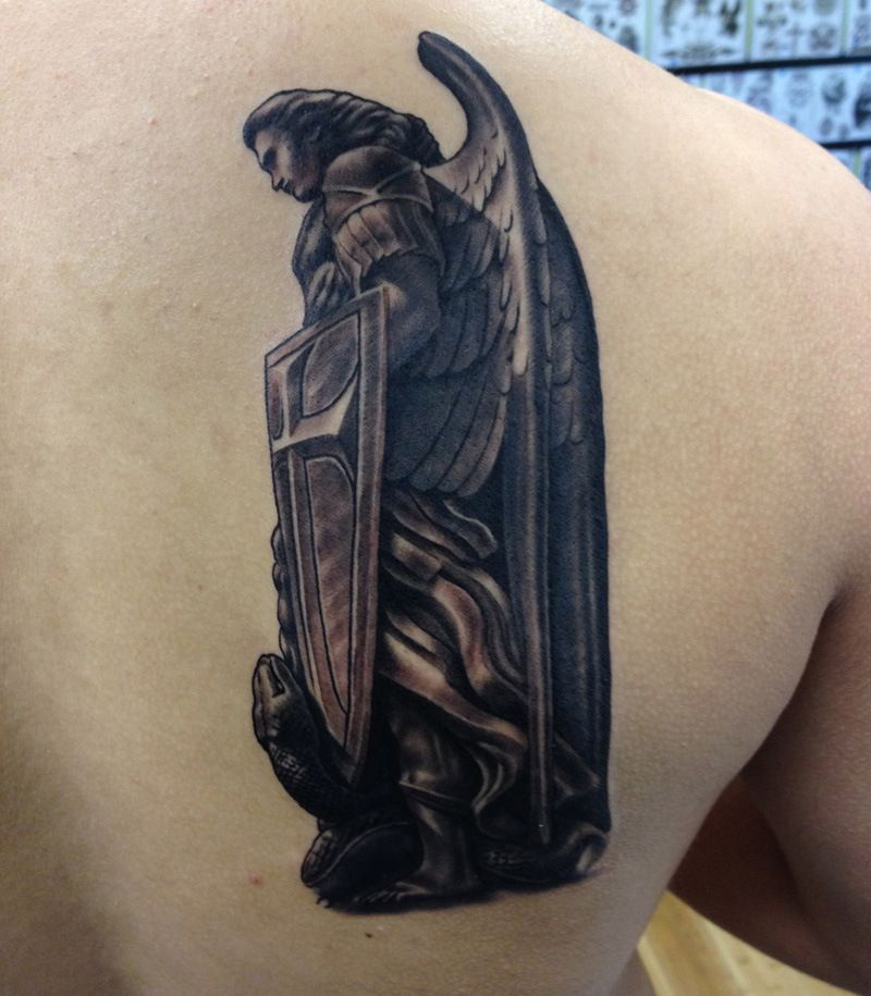Archangel Michael Tattoo Sleeve