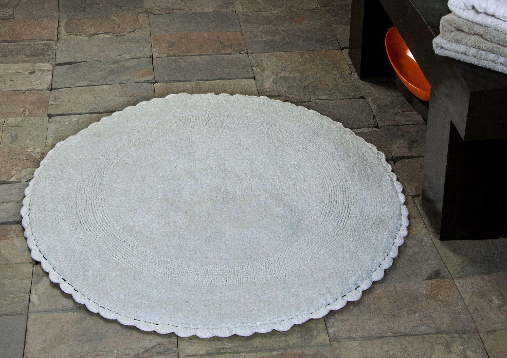 100% Soft Cotton Reversible Bath Rug