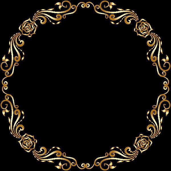 Round Deco Border Frame Transparent PNG Clip Art Monograma