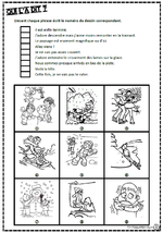 Lire des phrases simples, comprendre, images, inférences, lecture, Cp, Ce1