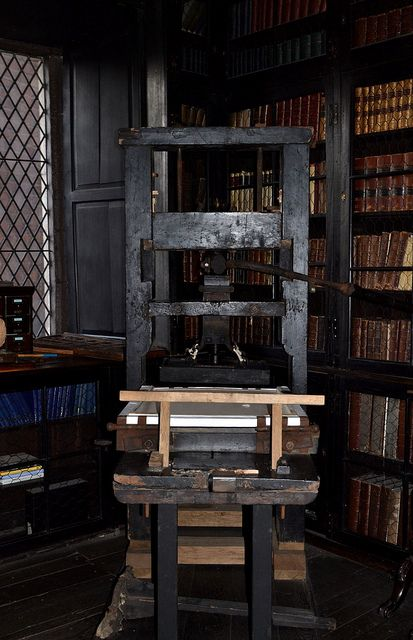 Bookbinding Press, Chetham's Library on Flickr.