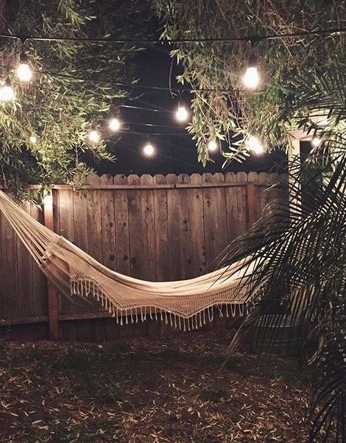 Backyard Deck Hammock Put Two Sturdy Sticks In Plant Bed To Hang
