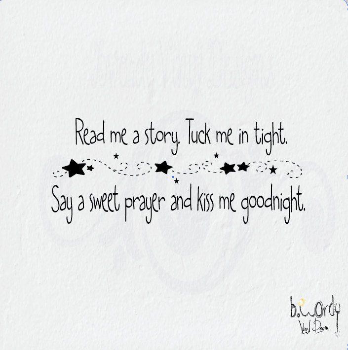 Read Me A Story Tuck Me In Tight, Nursery, Bedroom Vinyl
