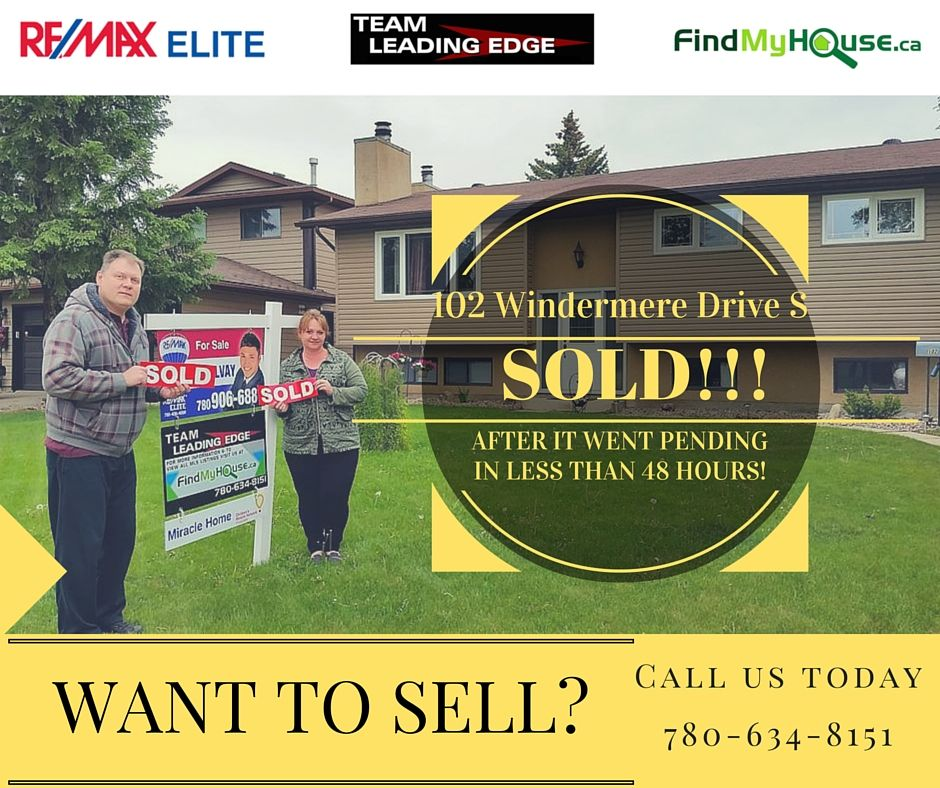 102 Windermere Drive, Spruce Grove Home Sold MLS listings