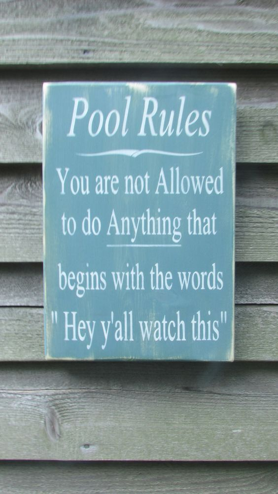 Swimming Pool Plaques Signs Wall Decor Hand Painted Wood Sign Pool Rules Sign Pool Sign Primitive