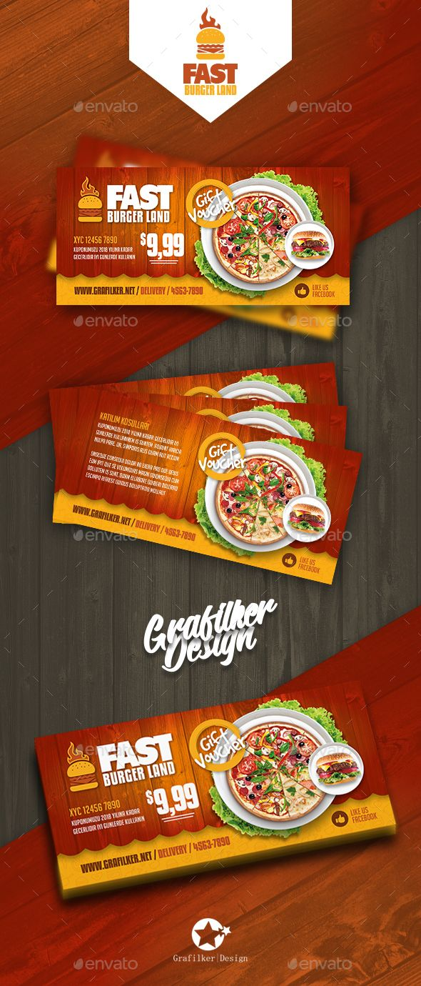 Restaurant Gift Card Templates Gift Card Template Restaurant Gift Cards Voucher Design