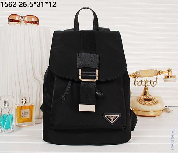 de36ec4c2156 Тканевый женский рюкзак Prada черного цвета новинка | Стильные сумки