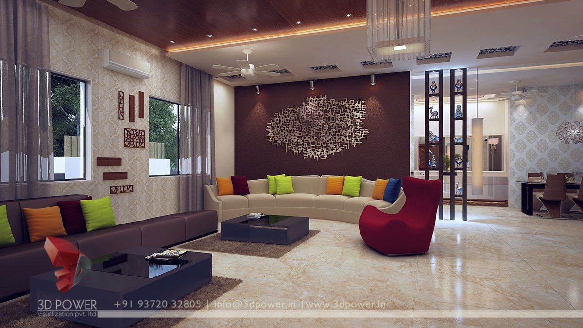 3d Living Room Interior Design In 2020 Drawing Room Inte