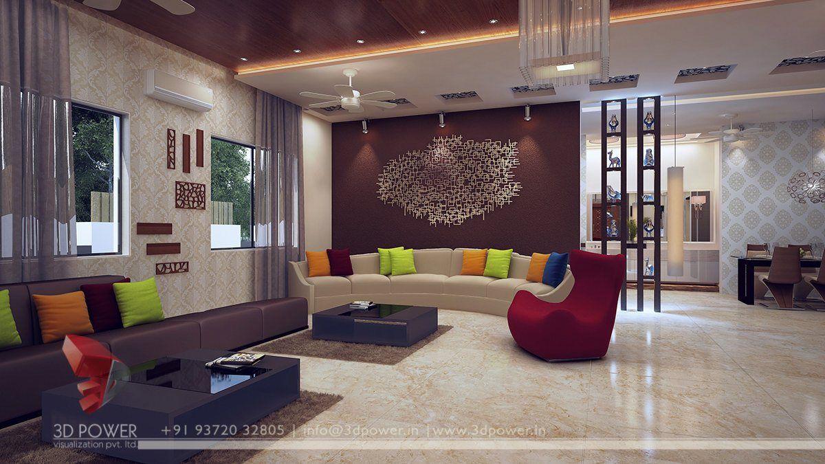 Living Room 3D Design Pin3D Power On Harmonious Interiors Pinterest  Interiors