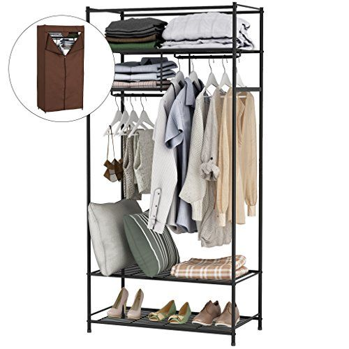 Langria Garment Rack Portable Closet Wardrobe Heavy Duty