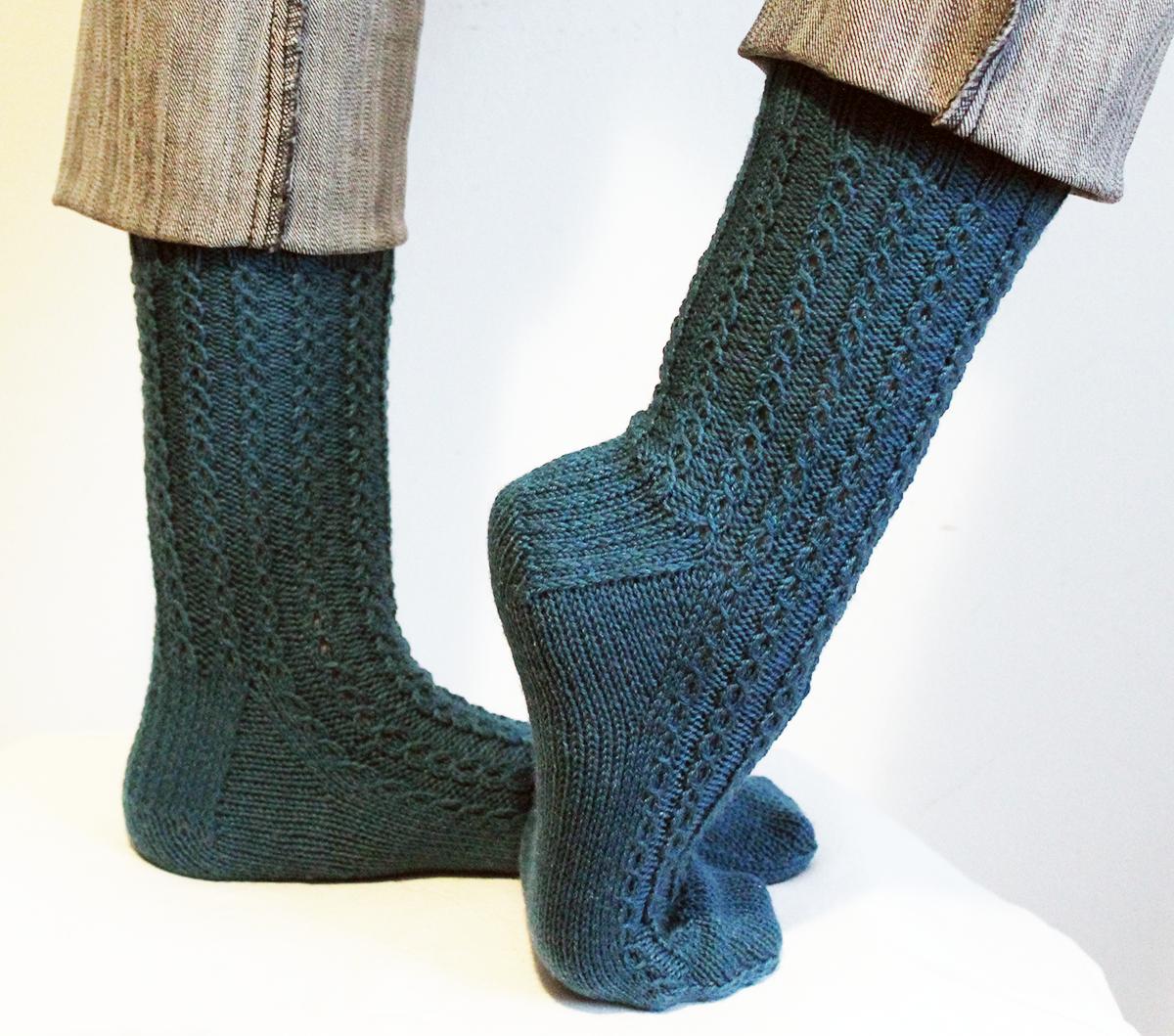 Sionaland: 026.- Patrón de calcetines con ochos \