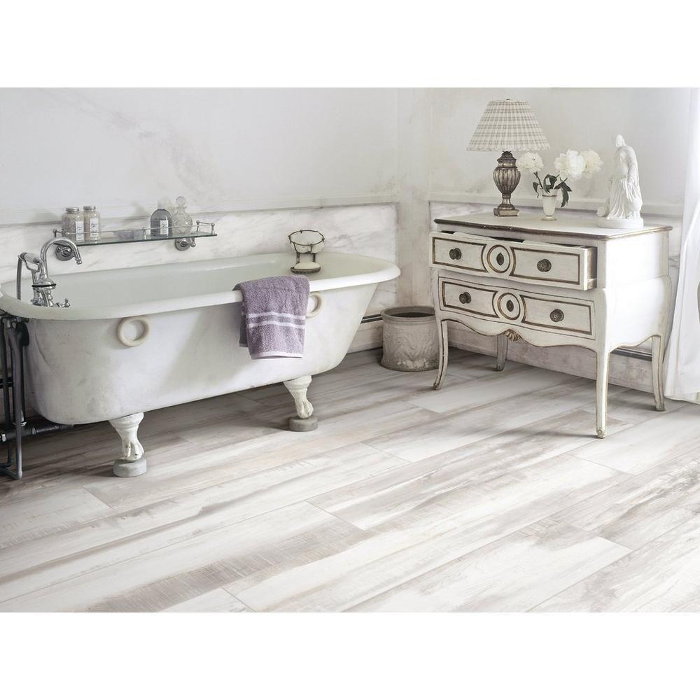 Marthas Vineyard Cottage White Wood Plank Porcelain Tile Wood Look Tile Bathroom Wood Tile Floors White Wood Floors
