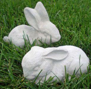 """Garden Statues : Cute Rabbit figurines 6.5"""" Bunny Statue Rabbit figurine Garden Bunny"""