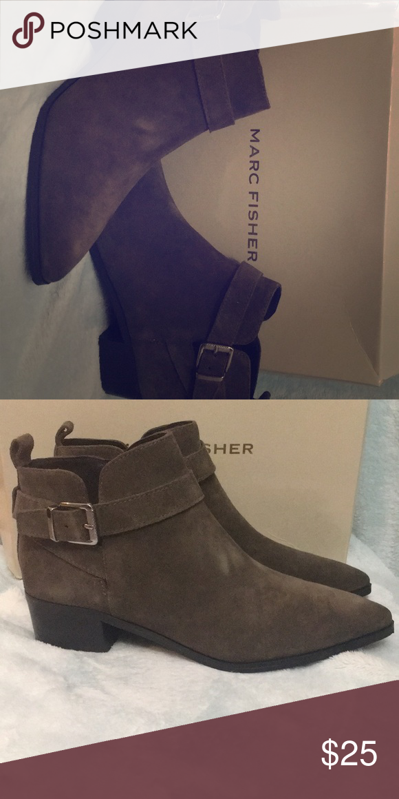 01e720bbe07 Gray Marc Fisher Boots Gray suede booties