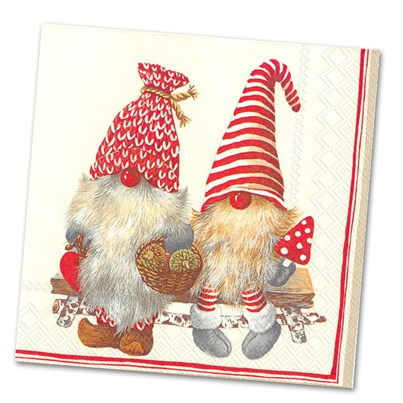 Napkin Art Ideal for decoupage 4 x Paper Napkins Scandi Christmas