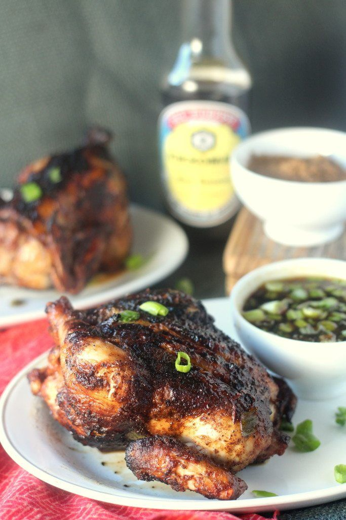 Five Spice Grilled Cornish Hens with Mongolian BBQ Sauce #juicygrilledcornish #cbias #ad #chicken #grill