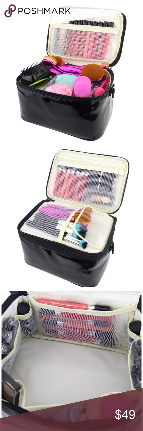 Brand New Layer Cosmetic Organizer Bag layer Large