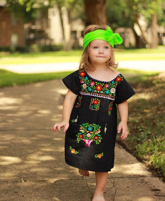 3-4T Handmade Embroidered Mexican toddler dress | Hechos, Mexicanos ...