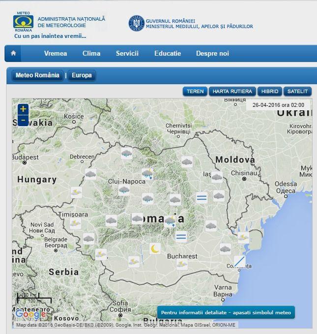 Meteo Romania | Site-ul Administratiei Nationale de Meteorologie ...