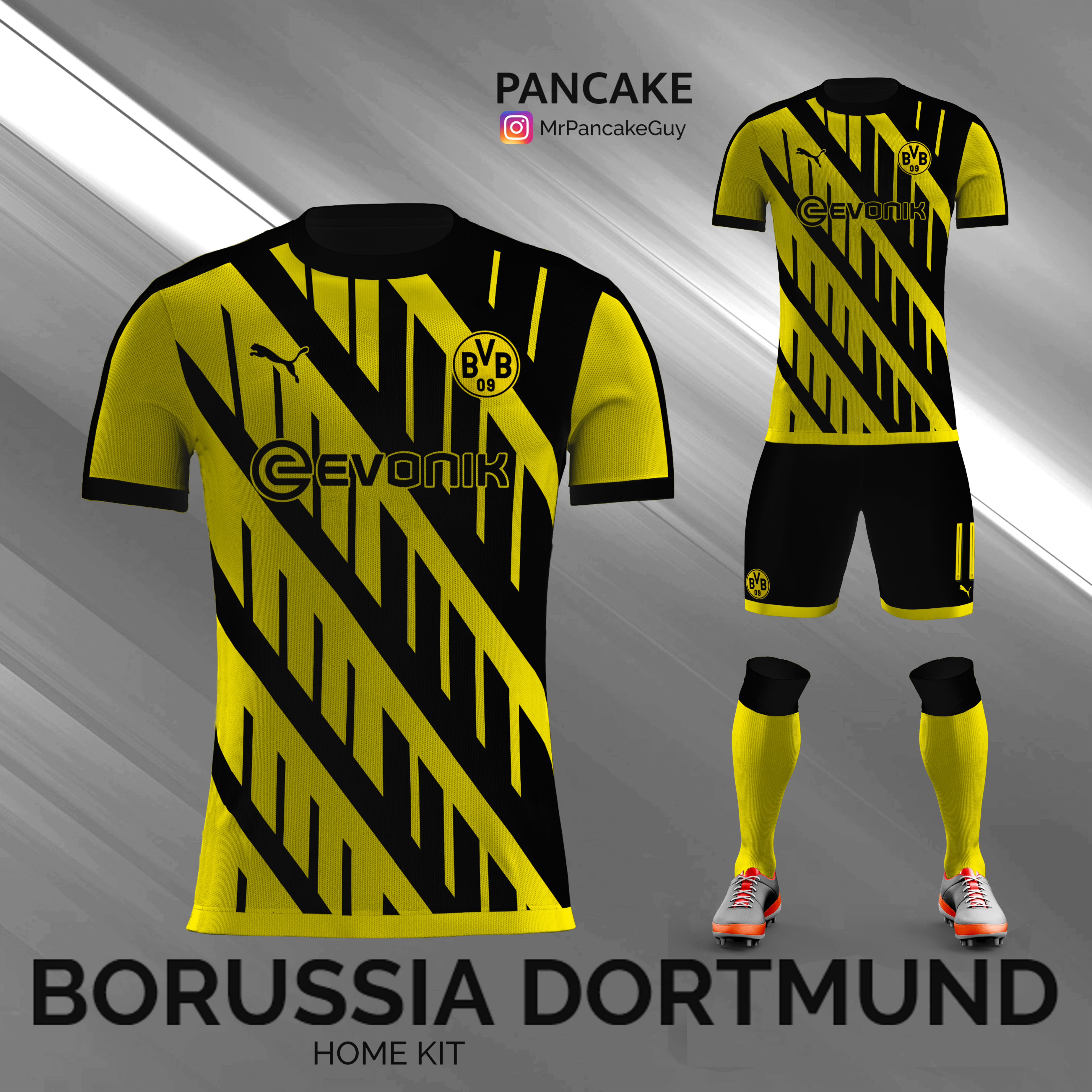 3fdf634c586f8 A home kit concept full of overlapping black and yellow lines for Borussia  Dortmund.