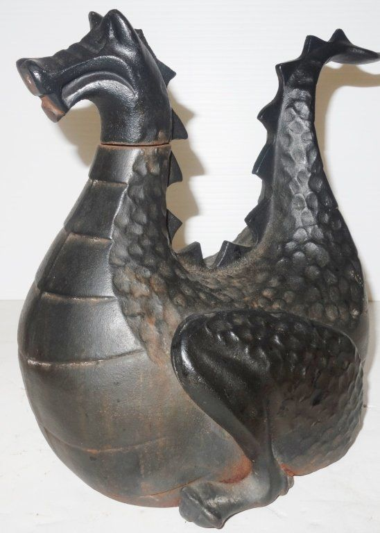 Cast iron dragon tea pot dragons drinking mostly coffee pinterest tea pots teas and - Cast iron teapot dragon ...